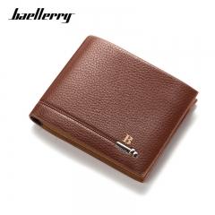 2017 BAELLERRY New Arrival PU Leather Men Wallets Black Brown Designer Coin Pocket  Wallet dark brown one size