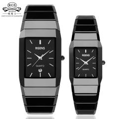 LOVER Luxury Ceramic square watch women mens couple clock waterproof wristwatches man