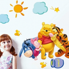 Lovely Decor The Pooh Wall Decals Bedroom Baby Kids Nursery Stickers Winnie BeSM As Picture one size
