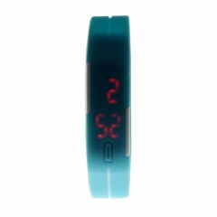 Ultra Thin Silicone Men Watch Sport Digital LED Bracelet Watch Gift For DAD NEW As Picture