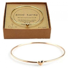 Brand womens fashion heart bead bangle bracelet Free Shipping A On Size