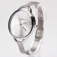 Classic Quartz Women Lady Fashion Stainless Steel Gift Wrist Watch Bracelet S silver