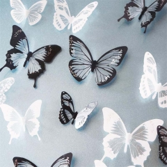 18pc PVC DIY Home Rome 3D Butterfly Wall Stickers Art Decal Butterflies DecoB As Picture one size
