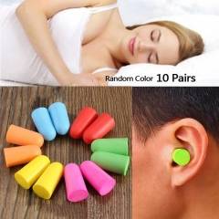 10 Pairs Soft Foam Ear Plugs Tapered Sleep Travel Noise Prevention Earplugs As Picture one size