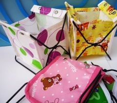 Office Creative Storage Bag Pouch Small Stuff Potable Holder Stell Frame SH As Picture one size