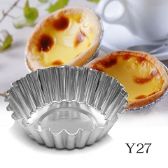 4Size Egg Tart Aluminum Cupcake Cookie Mold Lined Mould Tin Baking Tool Choose Q As Picture one size
