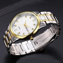 Casual Luxury Womens Men Stainless Steel Band Quartz Casual Analog Wrist WatchG man 1