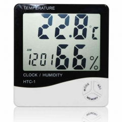 Digital LCD Thermometer Hygrometer Temperature Humidity Meter Indoor/ Outdoor BP As Picture one size