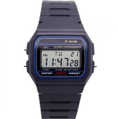 Candy Colorful Silicone Jelly Gel Sport Wrist Watch Geneva QuartzAnalog Gifts AM Black