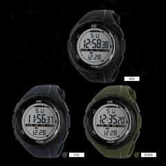 Fashion Mens LED Digital Stopwatch Date Waterproof Rubber Sport GIist Watch G[C Gray