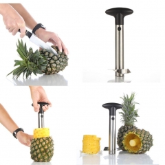 Pineapple Corer Slicer Cutter Peeler StainlessSteel Kitchen Easy Gadget Fruit GG As Picture one size