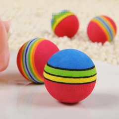 NEW Puppy Rainbow Chew Ball Dog Rubber Cleaning Teeth Ball Pet Toys Supplies GH As Picture one size