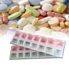 Medicine Drug Pill Box Storage 14 Slots Portable Container Organizer travel #3 As Picture one size