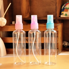 1 X 100 ML EMPTY PLASTIC PERFUME TRANSPARENT ATOMIZER SPRAY BOTTLE MINI SMALL XG As Picture one size