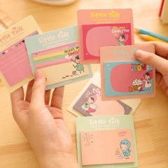 1x Lovely Girl Sticky Notes Memo Pad Bookmark Index Post it Flag Tab Sticker SZ As Picture one size