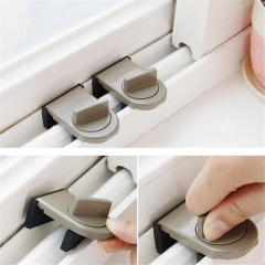 Kids Child Safe Security Sliding Window Door Sash Lock Restrictor Safety Catch as pic one size