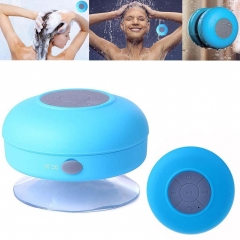 Waterproof Mini Wireless Bluetooth Handsfree Suction Speaker Shower Car Pink blue one size