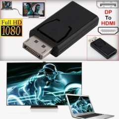 Display Port DP Male To HDMI Female Adaptor Converter For 1080P HDTV PC Black^ As Picture one size