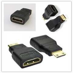 Mini HDMI Type C Male to HDMI Type A Female Adapter Cable Connector For HD TV GG As Picture one size