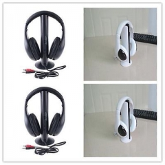 5in1 Wireless Headphone Earphone Cordless Headset for MP3 PC Stereo TV FM iPod T White one size