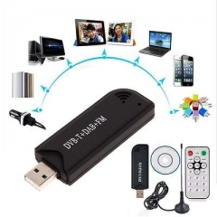 DVB-T DAB FM RTL2832U & R820T Tuner Mini USB RTL-SDR & ADS-B Receiver Stick LL A one size