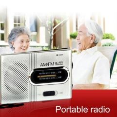 Portable Mini Pocket AM/FM Telescopic Antenna Battery Powered Radio Receiver I1O As Picture one size