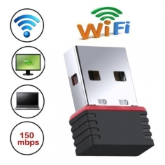 "Mini 150M Wireless USB 2.0 Network Receiver Adapter WiFi WLAN 802.11/g/b Win/XP"" As Picture one size"