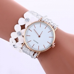 Fashion Leisure Womens Quartz Bracelet Watch Crystal Diamond Wrist Watch white 0