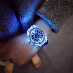 Luminous LED Sport Watches  Silicone  glowing Relojes Mujer Led Flash Luminous black