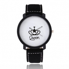 Creative Classic Queen Watches Eletronic King Round Dial Retro Casual Wirstwatches women
