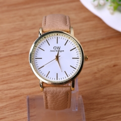 Hot Bracelet Quartz Watches For Women Ladies Gift Fashion PU Leather Strap Wrist Watch khaki