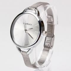 New Fashion Classic Women Lady Quartz Stainless Analog Wrist Watch Bracelet GS As Picture silver