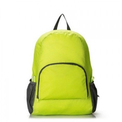 New portable folding Backpack Travel Bag waterproof nylon Backpack Bag Color shoulder bag green one size