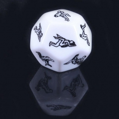 FUN 12 Sides Sex Position Dice Bachelor Party Adult Couple Lover Novelty Gift white one size