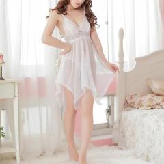 Sexy Lingerie Set Dress Women Night Sleep Underwear G-string Babydoll in Rose white one size