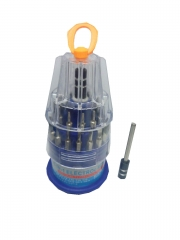 32-In-1 Precision Handle Screwdriver Set - Blue And Silver