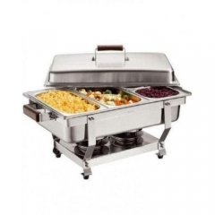 Chafing Dish Stainless Steel 3Tray Buffet Catering - Silver silver