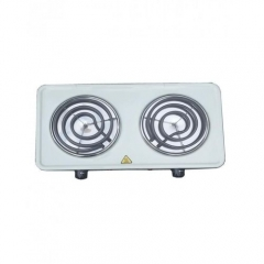 Electric Double Hot Plate - White WHITE