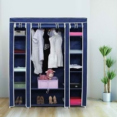 3 Columns Portable Wardrobe -  130*170*45 - Blue blue medium