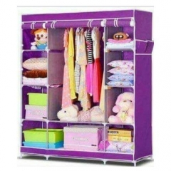 Portable Wardrobe - 3 Columns - 130*170*45 - Purple purple