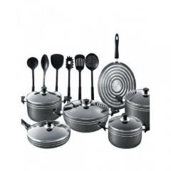 17piece - Non-Stick Cooking Pots  -Black