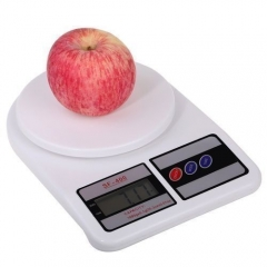 Electronic Kitchen Digital Weighing Scale, Multipurpose, White, 10 Kg WHITE
