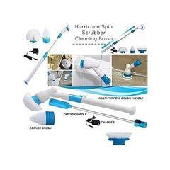Hurricane Spin Scrubber white and blue medium
