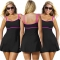 2017 Swim Skirt Swimwear Plus Size Thong Bathing Suit Brazilian Women Swimming Wear black 2XL
