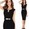 2017 Gown Empire Waist Knee-Length Sequined Elegant Casual Bodycon Pencil Evening Party Dresses black s