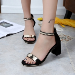2017 Summer Gladiator Sandals Women High Heels Sandals Party Wedding Shoes Glitter Ladies Sandals black 36