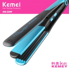 Professional Hair Flat Iron Curler Hair Straightener Irons Tourmaline Ceramic Styling Tools blue normal