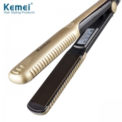 New hair straighteners Professional Hairstyling Portable Ceramic Hair Straightener Irons gold normal