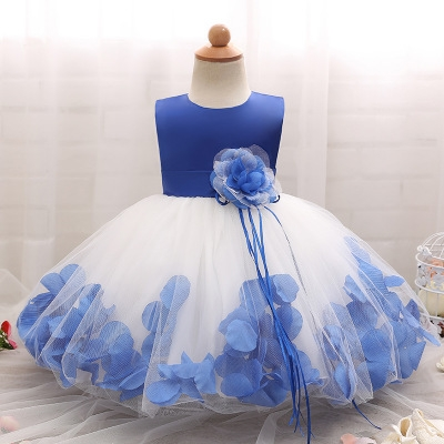 2018 Baby Girl Wedding Veil Dresses Kids's Party Wear Costume For Girl Children Clothing #03 xl