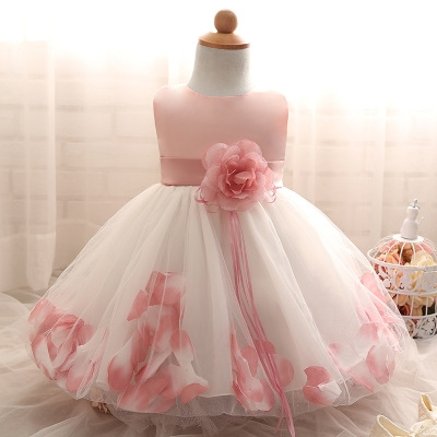 2018 Baby Girl Wedding Veil Dresses Kids's Party Wear Costume For Girl Children Clothing #05 s